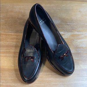 Stuart Weitzman Black Smoking Loafer - Size 6.5